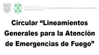 """Circular """"Lineamientos Generales para la Atención de Emergencias de Fuego"""""""